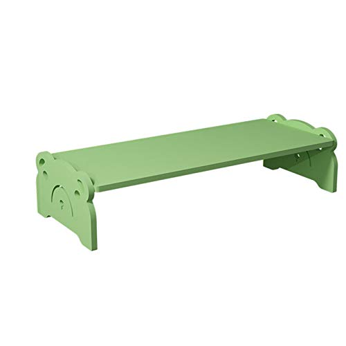 Monitor Stand Riser,Wood Desk Monitor Stand Riser,for Laptop Computer Monitor Stand,for Office Home-Green 48x19.5x11cm(19x8x4inch)