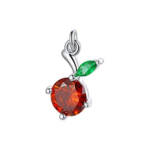 SANHUA S925 Charm De Plata Esterlina Mini Colgante Apple Beads Pulsera Y Collar De Mujer Cadena De Joyería De Bricolaje