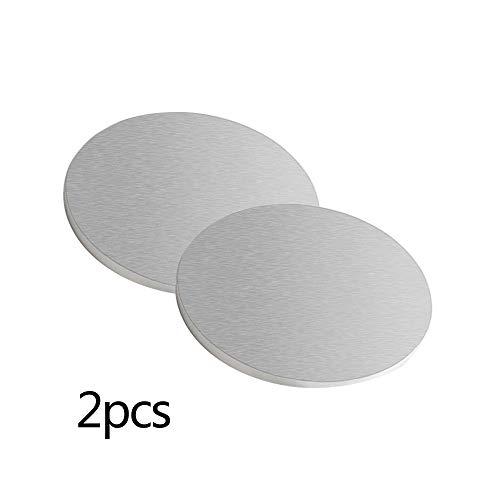 JKGHK Runden Aluminiumbleche Aluminium Platten, Für Die Kleinteileverarbeitung, 120Mm Im Durchmesser(2Pcs),Thickness:4mm