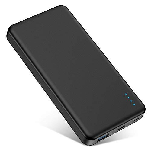 Power Bank FKANT Batería Externa 10000mAh con Indicadores de Energía LED QC 3.0 PD 18W 2 Salidas / Entradas Cargador Portátil para iPhone iPad Samsung Dispositivos Android Smartphones Tabletas