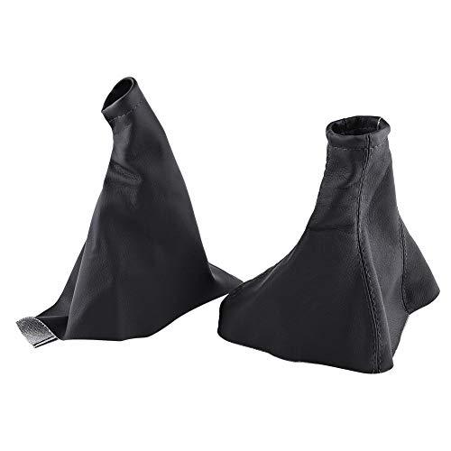 2pcs Couvercle Anti-poussière, Keenso Housse de Protection Couvercle de Levier de Vitesse de Voiture Couvre-bottes à Soufflet Cache-bottes