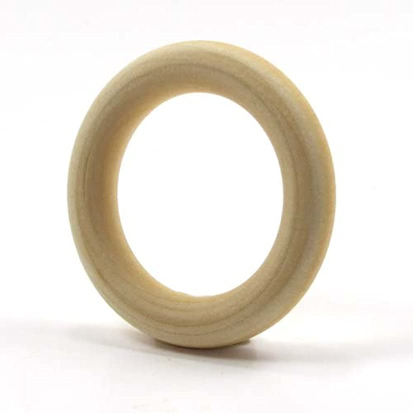Mylittlewoodshop Pkg of 6 - Ring - 1-1/2 inch outside diameter with 3/4 inches inside diameter and 3/8 inches thick unfinished wood (WW-TR0400-6)