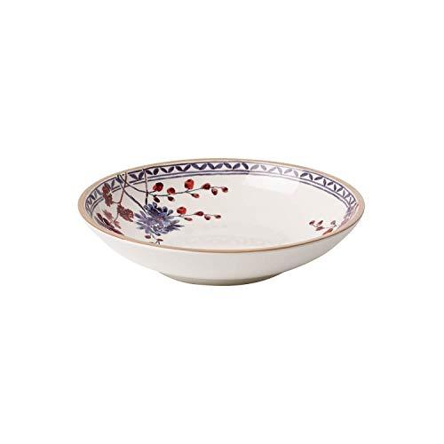Villeroy & Boch - Artesano Provencal Lavendel Pastaschale, Schale für Nudelgerichte in stilvollem Lavendel, Premium Porzellan, weiß/bunt, 23.5 cm