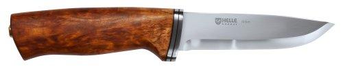 Helle Jagd-/Outdoormesser, Alden, Sandvik 12C27, rostfrei,, Birkenholz-Griff, Lederscheide