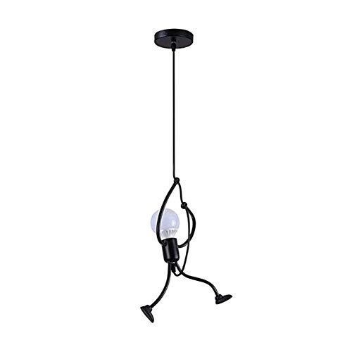 LED Vintage Industrie Schwarz Esstischlampe Pendelleuchte Moderne Metall E27 Glühbirne Design Kronleuchter landhaus Deckenleuchte für Schlafzimmer Esszimmer Hotel Küche Loft Bar Flur Hängend Lampe