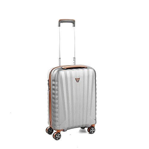 Roncato E-Lite Maleta Cabina avión Titanio/Cognac, Medida: