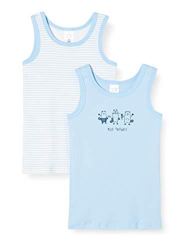 Schiesser Jungen Multipack 2pack Hemd 0/0 Unterhemd, Mehrfarbig (1 901), 140 (2er Pack)