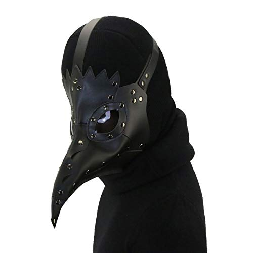 Cook shark Steampunk Plague Bird Mask of Retro Medieval Doctor Gothic Vintage Costume, Halloween Party Cosplay Decoración Accesorio