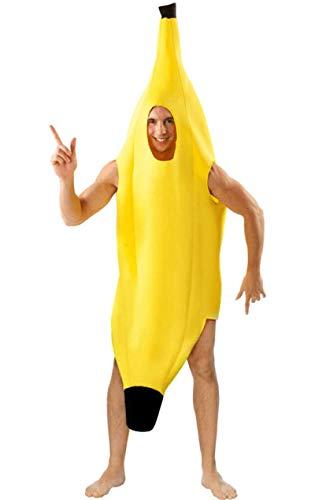 ORION COSTUMES Unisex Riesen Banane Lustiges Essen Maskenkostüm