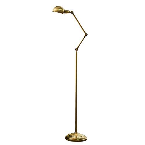 LSFF Stehlampe Schlafzimmer Nordic Stehleuchte Schutz Auge Leselampe kreative Stehleuchte (156cm ~ 180cm höhenverstellbar) Stehlampe lesen, Nachttischlampen (Farbe : A)