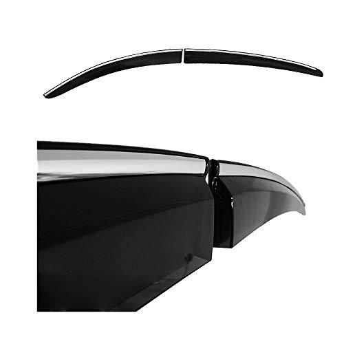 accessorypart Windabweiser Regenabweiser für Hyundai Tucson 2015-2020 Fenster Sonnenblende Windschutz mit Chromstreifen Schwarz