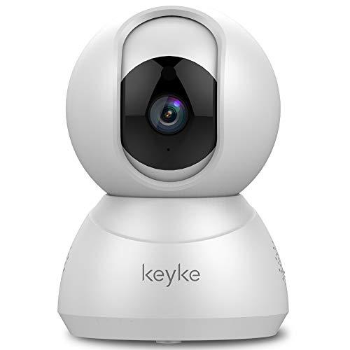 Keyke Caméra de Surveillance WiFi 1080P, Dôme PTZ Caméra de Sécurité avec...
