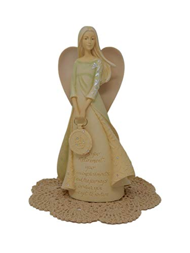 Westwood Products Foundations Angel Figurines with Westbraid Doily (Retirement, 4036736)