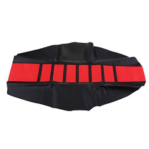 perfk Universal-Greifer Motorrad Sitzbank-Bezug Anti-Rutsch Universal Sitzkissenbezug Motorrad Sitz Schutzmatte - rot