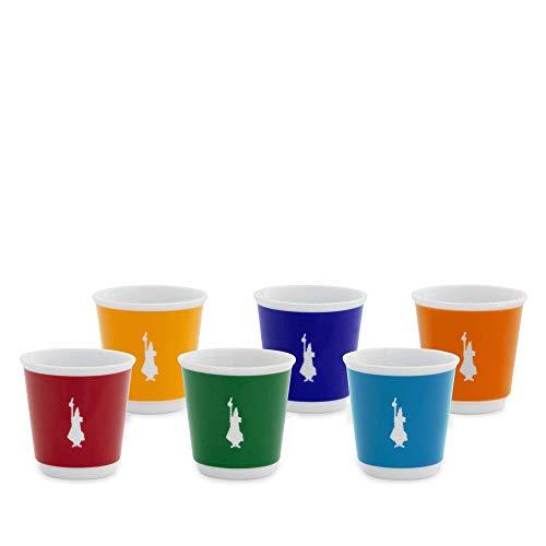 Bialetti Set 6 Bicchierini Pop Supercolor, Porcellana, Colorati