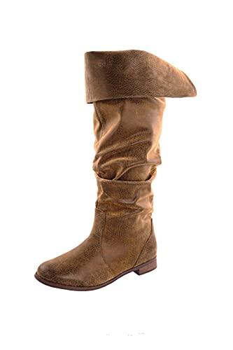 CP-Schuhe Mittelalter Schuhe Stiefel Piratenstiefel, Antik Schuhgröße 43