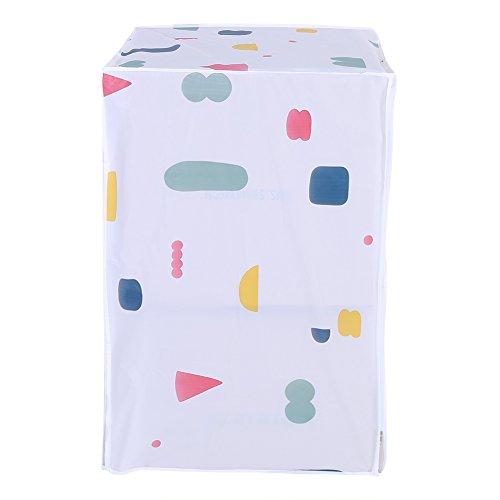 Wasserdichte Waschmaschine Reißverschluss Abdeckung, Staubschutz für Top/Front Load Waschmaschine Trockner Waschgerät Staubdicht Protector(Obere Last)