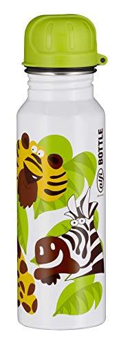 alfi 5397.902.060 Trinkflasche Jungle, Edelstahl Weiß 0,6 l, Spülmaschinenfest, zerlegbarer Verschluss, BPA-Free