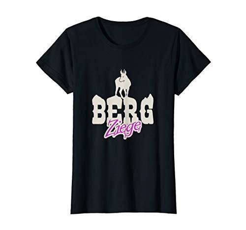 Damen Berg Ziege Lustiges Geschenk für Bergsteiger und Wanderer T-Shirt