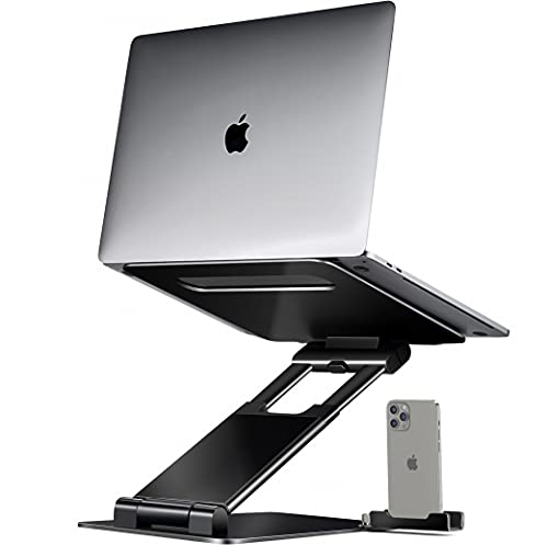 Ergonomic Laptop stand for desk, Adjustable height up to 20', Laptop riser computer stand for laptop, Portable laptop stands, Fits MacBook, Laptops 10 15 17 inches, Laptop holder and Laptop desk stand