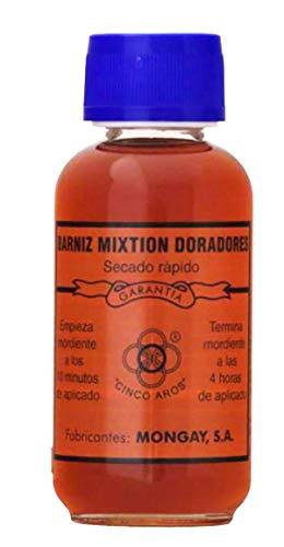 Mongay -Barniz Mixtión Doradores Cinco Aros Secado RÁPIDO (125 ml)