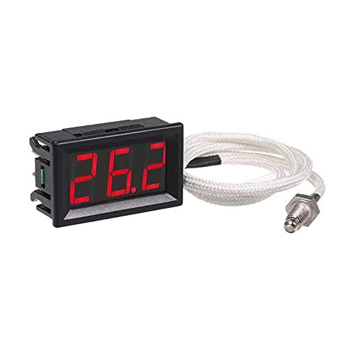 RUIZHI Industrielles Hochpräzisions Thermometer, -30~800 ℃ 12V Temperaturmessgerät mit K-Typ Thermoelement M6-Sonde