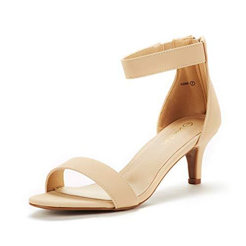 DREAM PAIRS Women's Fiona Nude Nubuck Fashion Stilettos Open Toe Pump Heeled Sandals Size 11 B(M) US