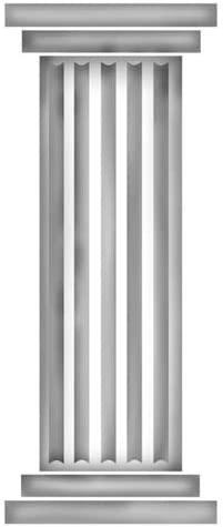 Fluted Column Wall Stencil SKU by Excellent Stencils Shipping included Designer #1088