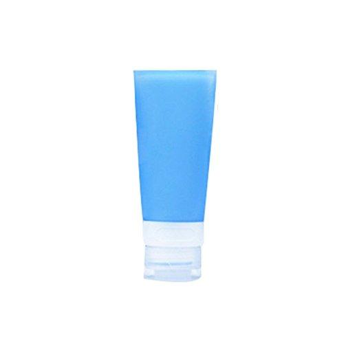 Livecity, leere Silikon-Reisetube, ideal zum Einfüllen von Shampoo / Lotion / Kosmetik, blau, 38ML