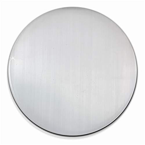 Amello Coins Edelstahl-Schmuck, Coin Cateye Glas weiß - Coin für Amello Coinsfassung für Damen - Edelstahlschmuck Stainless Steel ESC707W