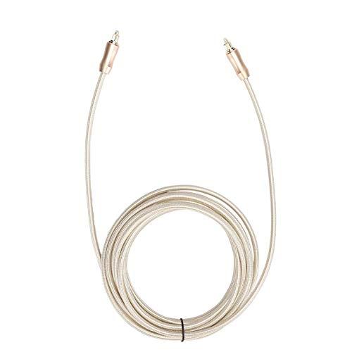 DAUERHAFT Cable de Audio Servicio de Larga duración Aleación de Aluminio Cable de Audio Digital Enchufe Dorado, para amplificadores de Potencia(5 Meters)