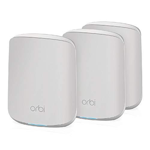 NETGEAR Orbi Mesh WiFi 6 RBK353, Router WiFi 6 + 2 extender mesh, WiFi 6 Veloce AX1800 Dual Band, Copertura WiFi mesh fino a 300 m², sostituisce router + extender