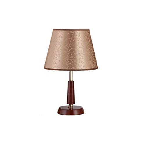 YIXIN2013SHOP Lámpara Mesilla de Noche Lámpara de Mesa Regulable de Noche de Dormitorio de lámpara de Mesa de Madera sólida Moderna China Lámparas de Escritorio