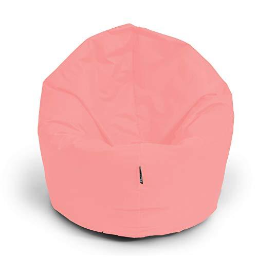 BuBiBag Sitzsack 2-in-1 Funktionen mit Füllung Pastellfarben Sitzkissen Bodenkissen Kissen Sessel BeanBag (100cm, puderrosa)