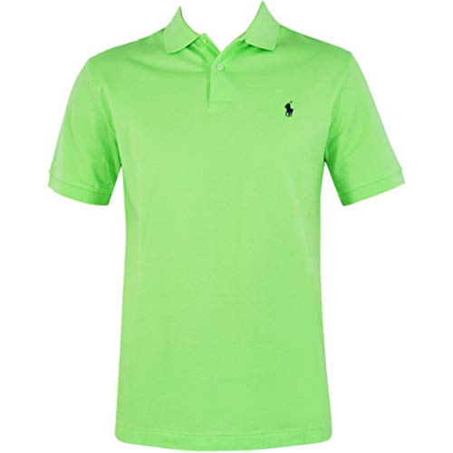 Ralph Lauren Herren Poloshirt Custom Fit *Small Pony Navy* Size: L / HellGrün