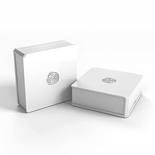 ZigBee Smart Wlan Lichtschalter, SONOFF SNZB-01 2PCS Lösen Sie die angeschlossenen Geräte in der eWeLink-App mit 3 Optionen aus- einfaches, doppeltes Drücken und langes Drücken, ZBBridge erforderlich