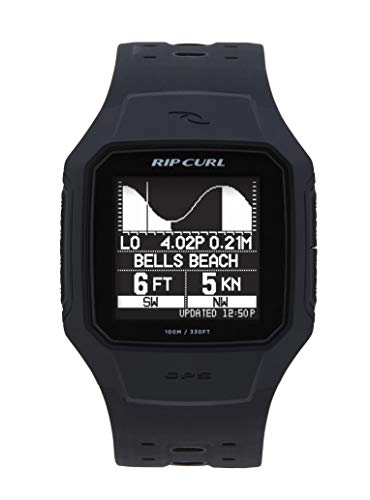 Rip Curl Men's SearchGPS Quartz Sport Watch with Polyurethane Strap, Black, 25.75 (Model: A1144-BLK)