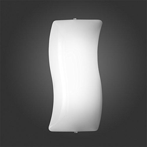 Applique lampada da parete plafoniera in plexiglass 1xE27-100% Made in Italy (FORMA ONDULATA)