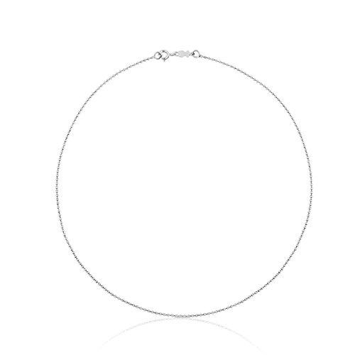 TOUS Collar cadena Mujer en plata de primera Ley, Largo 40 cm.