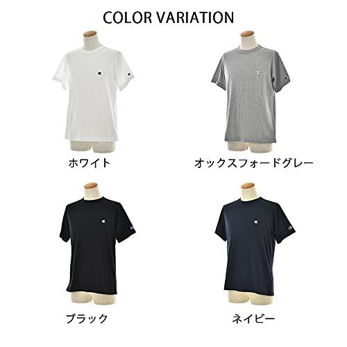『[チャンピオン] Tシャツ 半袖 綿100% 定番 ワンポイントロゴ刺繍 ショートスリーブTシャツ C3-P300 メンズ ホワイト M』の2枚目の画像
