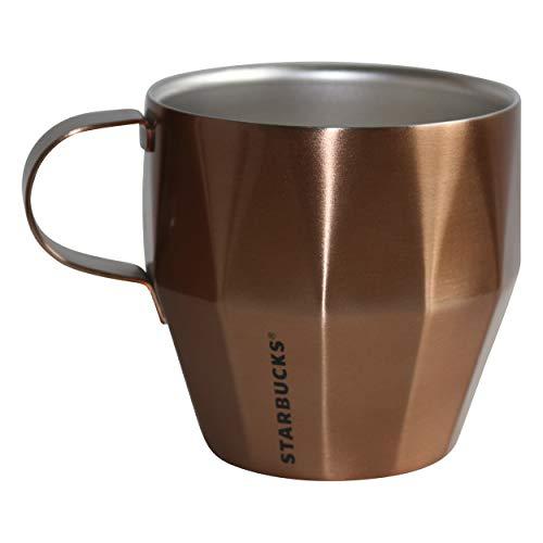 Starbucks Mug Tasse Becher Edelstahl Geo Gold mit Muster Schriftzug 14oz NEU