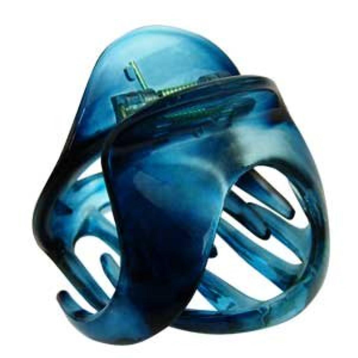 見出しアンデス山脈ヒットhaclm686nnabl ヘアアクセサリー 髪飾り (リトルムーン) バンスクリップ マルチクリップ(オニオン?クリア) アクアブルー