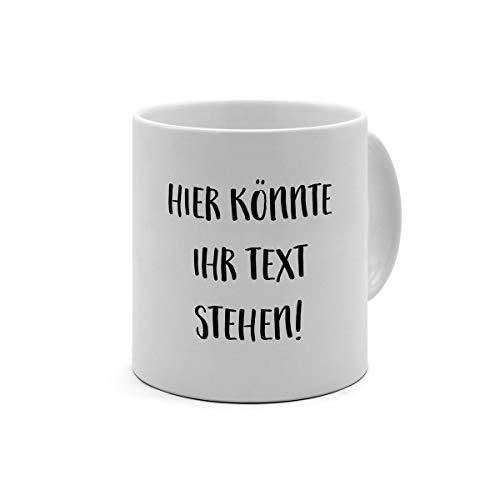 XL Tasse mit eigenem Text Bedrucken Lassen - Kaffeebecher mit Wunschtext oder Spruch Personalisieren