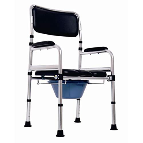 ASGDVJFGSD Home care toilet potty nachtkastje opvouwbare commode stoel voor ouderen of gehandicapten,B