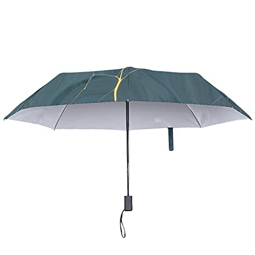 Paraguas con textura de mármol, automático, estilo moderno, protección UV, blanco (Blanco) - Bannihorse-UBR-8