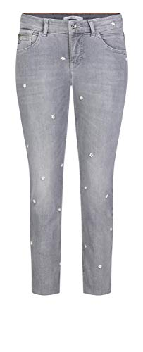 MAC Jeans Damen Hose Straight Slim Fringe Flower Light Authentic Denim 42/OL