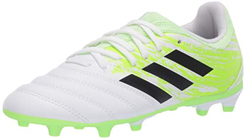 adidas Men's Copa 20.3 Fg J Football Shoe, FTWR White/core Black/Signal Green, 3 M US Little Kid