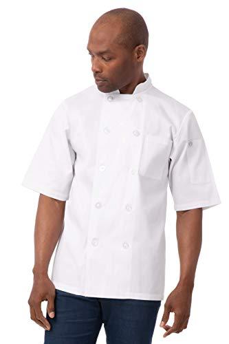 mens short sleeve chef coat - 6