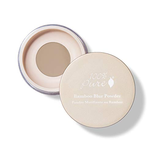 100% PURE Bamboo Blur Powder, Medium, Setting Powder, Loose Face Powder for Setting Makeup, Lightweight, Long Lasting Face Makeup, Vegan Makeup (Light-Medium Shade w/Neutral Undertones) - 0.2 Oz