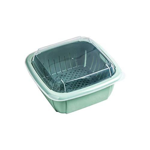 GWFVA Contenedor de Almacenamiento de refrigerador con Bandeja de Goteo, Contenedores de Almacenamiento de Vegetales y Frutas para refrigerador, sin BPA, Rosa
